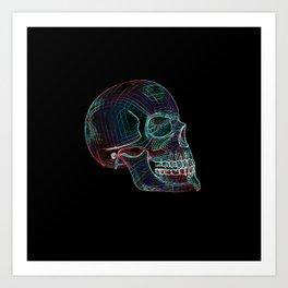 NEON SKULL/3 Art Print