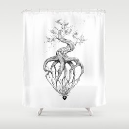 Heart Root Shower Curtain