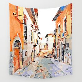 L'Aquila: glimpse city Wall Tapestry