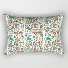 Austin Icons Rectangular Pillow