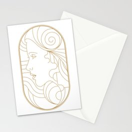 Girl Art Deco 08 Stationery Cards