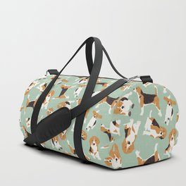 beagle scatter mint Duffle Bag