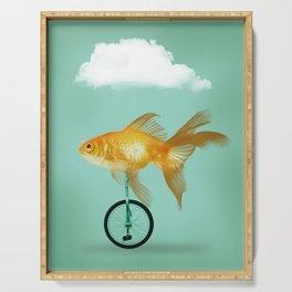unicyle goldfish III Serving Tray