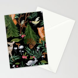 Winter Forest Animals Stationery Cards