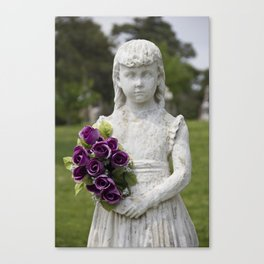 Girl Statue Closeup Canvas Print