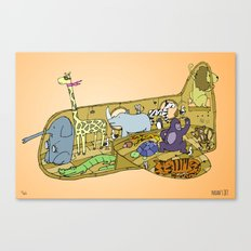 Noah's Jet Wall Art, Nursery Decor, Boy Room Decor, Wall Art for Boys Canvas Print