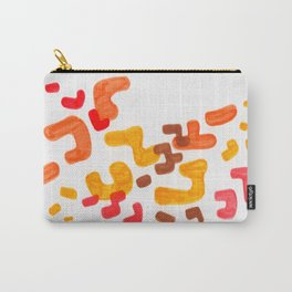 Minimalist Abstract Mid Century Modern Colorful Organic Patterns Red Orange Brown Carry-All Pouch