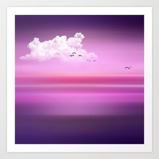 FROM DUSK TO DAWN purple Art Print