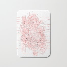 Chambers in Red Bath Mat