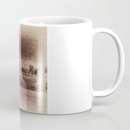 Broken Glass Sky Sepia Coffee Mug