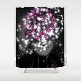Flashing lights Shower Curtain