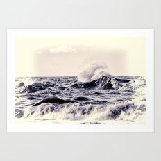 At the sea Art Print