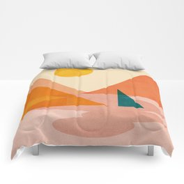 Abstraction_Lake_Sunset Comforters