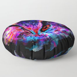 owl purple blue perfect Floor Pillow