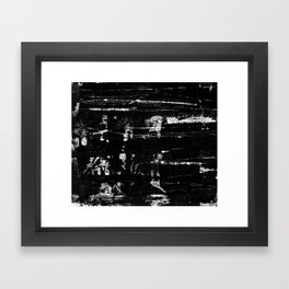 Distressed Grunge 102 in B&W Framed Art Print