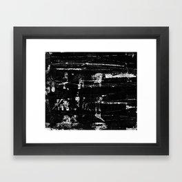 Distressed Grunge 102 in B&W Framed Art Print
