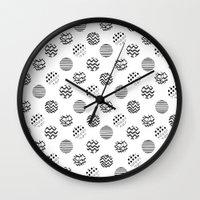 polka dot Wall Clocks featuring Polka Dot by AndaLouz