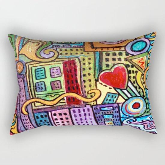 Pretty City Rectangular Pillow