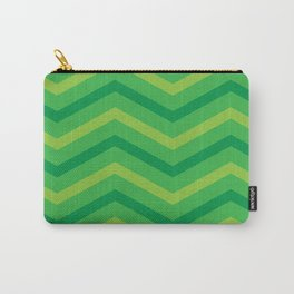Emerald Stripe Chevrons Carry-All Pouch