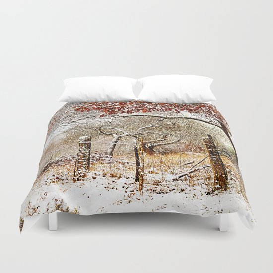 Painterly winter Duvet Cover
