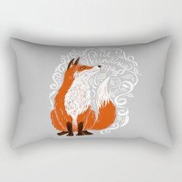 The Fox Says Rectangular Pillow