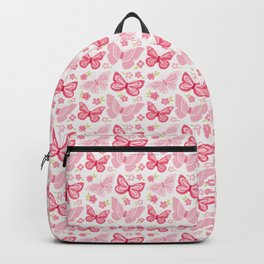 Butterfly Pink Group Of Butterflies Backpack