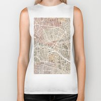 berlin Biker Tanks featuring Berlin by Mapsland