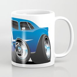 Classic Sixties Style American Muscle Car Hot Rod Cartoon Coffee Mug