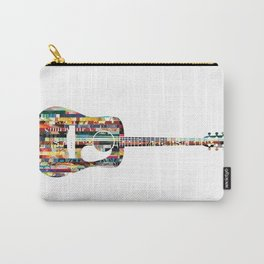 Acoustic Guitar | Magazine Strip Art Carry-All Pouch