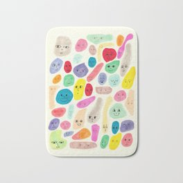 Colored Faces Bath Mat