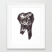 tooth Framed Art Prints featuring Tooth. by Tiffany Huta