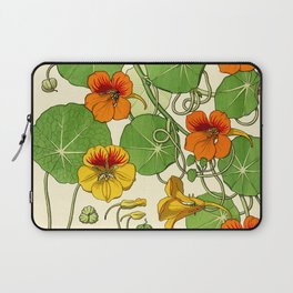 French botanical flower plate - Maurice Verneuil - Capucine Laptop Sleeve
