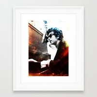 bob dylan Framed Art Prints featuring Bob Dylan by Maioriz Home