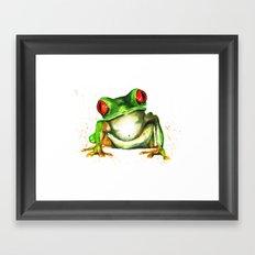 TreeFrog Framed Art Print