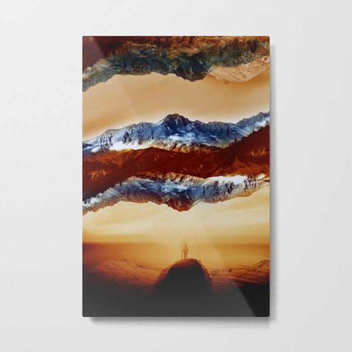 Vibrant Mountain Metal Print