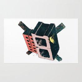 Brick Crossbones and a Bird Rug