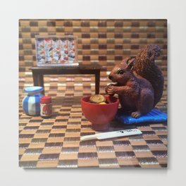 The Squirrel & The Sushi Sunday Metal Print