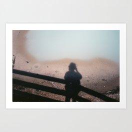 Pastel shadows Art Print