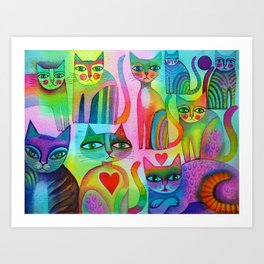 Pussies Galore  Art Print