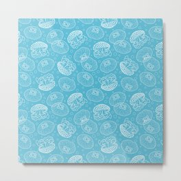 Blue Jellies Metal Print