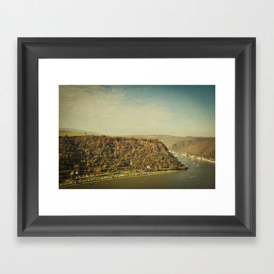 Rhine romantics Framed Art Print
