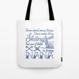 Skiing Nana Tote Bag