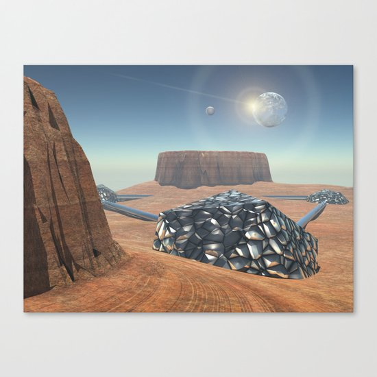 Mars Babylon Colony, view of Armageddon  Canvas Print