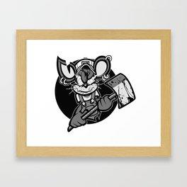 crazy mouse Framed Art Print