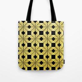 Golden Snow, Snowflakes #02 Tote Bag