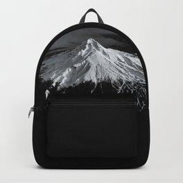 Mount Hood, Oregon x Aerial BW Backpack