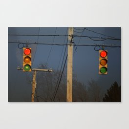 Double Traffic Lights Canvas Print