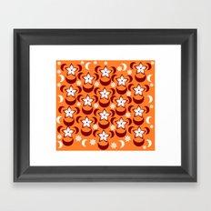 Orange floral fantasy Framed Art Print