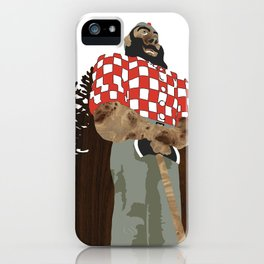 Paul Bunyan Statue (and Dancing Bare stripclub), Portland Oregon iPhone Case