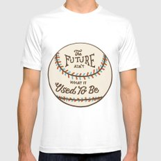 The Future Ain't What It Used To Be White Mens Fitted Tee MEDIUM